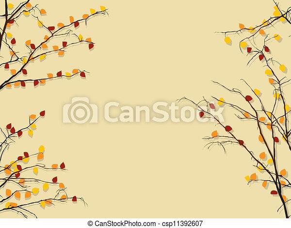 Autumn foliage background - csp11392607