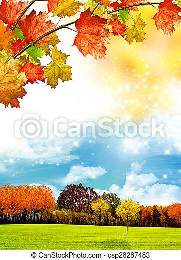 autumn foliage - csp28287483