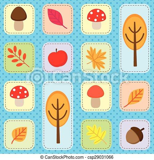 Autumn forest seamless background - csp29031066