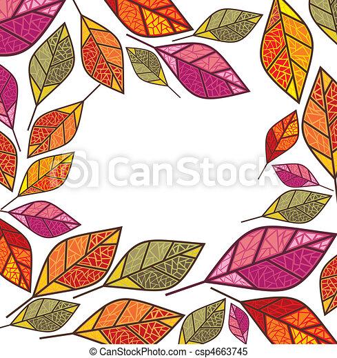 autumn frame - csp4663745