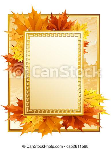 Autumn frame - csp2611598