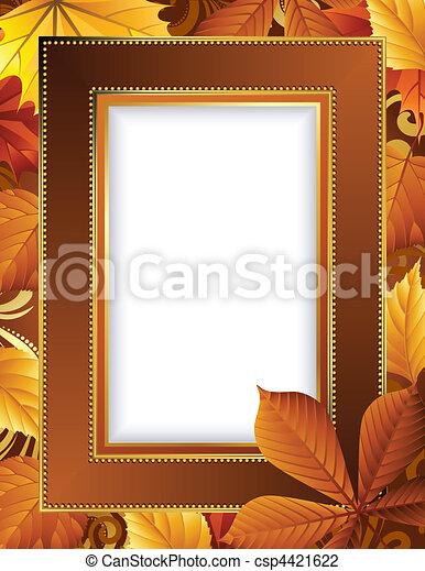 Autumn frame - csp4421622