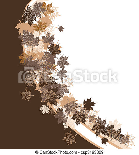 Autumn frame: maple leaf. Place for your text here. - csp3193329