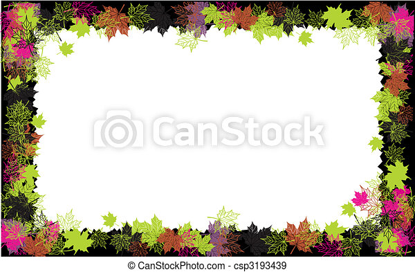 Autumn frame: maple leaf. Place for your text here. - csp3193439