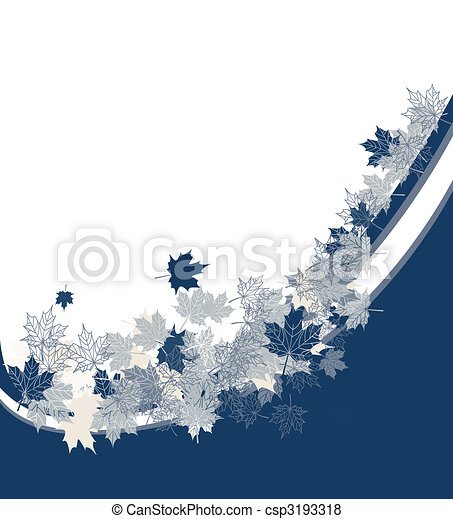 Autumn frame: maple leaf. Place for your text here. - csp3193318