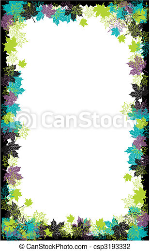 Autumn frame: maple leaf. Place for your text here. - csp3193332