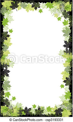 Autumn frame: maple leaf. Place for your text here. - csp3193331