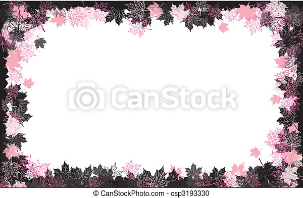 Autumn frame: maple leaf. Place for your text here. - csp3193330