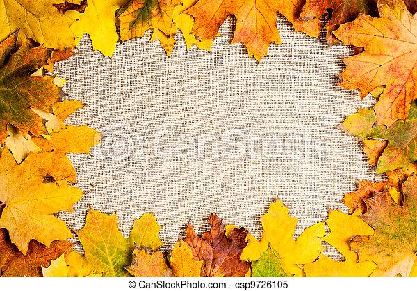 Autumn frame on canvas - csp9726105