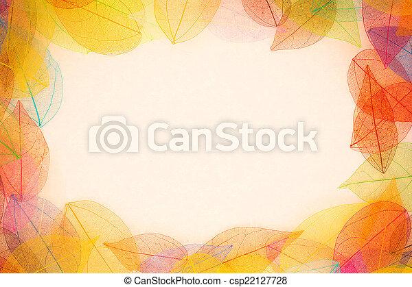 Autumn frame - csp22127728