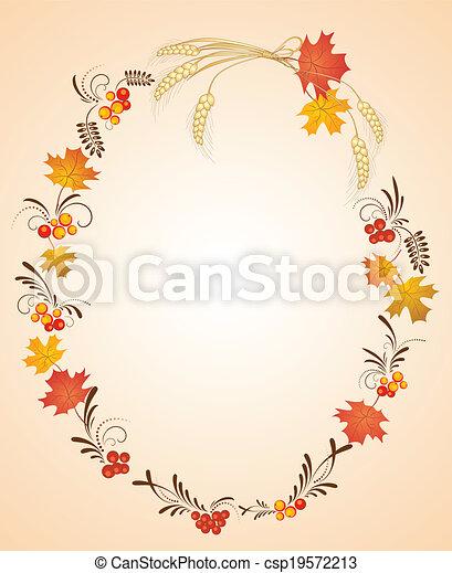 Autumn frame - csp19572213