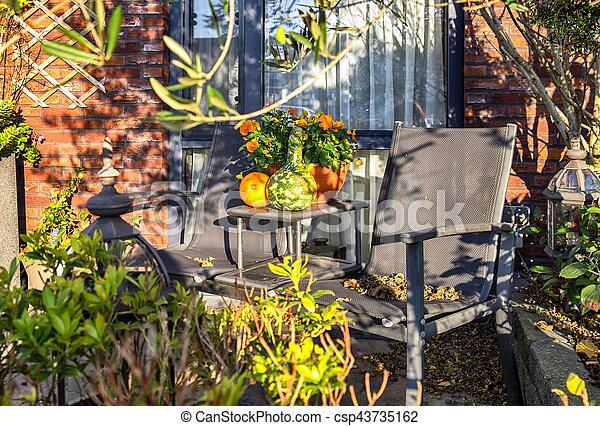 autumn garden - csp43735162