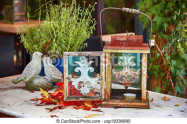 autumn garden - csp19336690