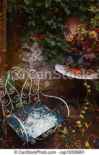 autumn garden - csp19336691