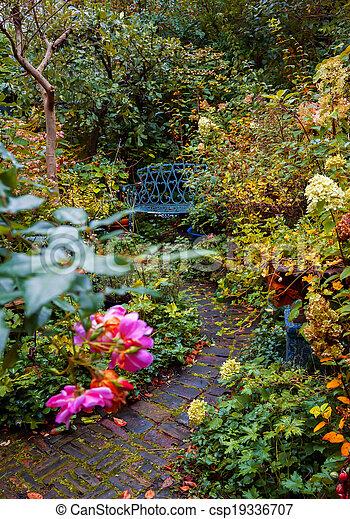 autumn garden - csp19336707