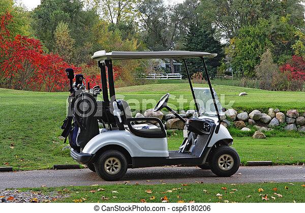 Autumn golfcart - csp6180206