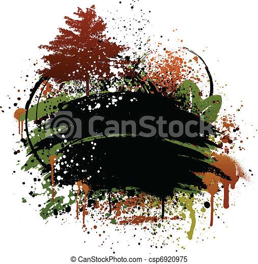 Autumn grunge design - csp6920975