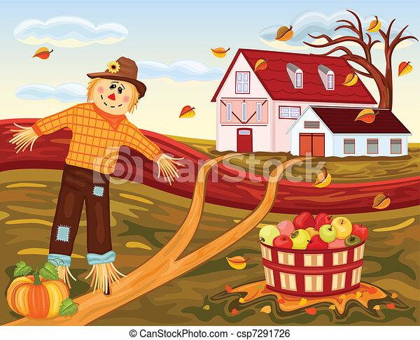 Autumn harvesting at the farm - csp7291726