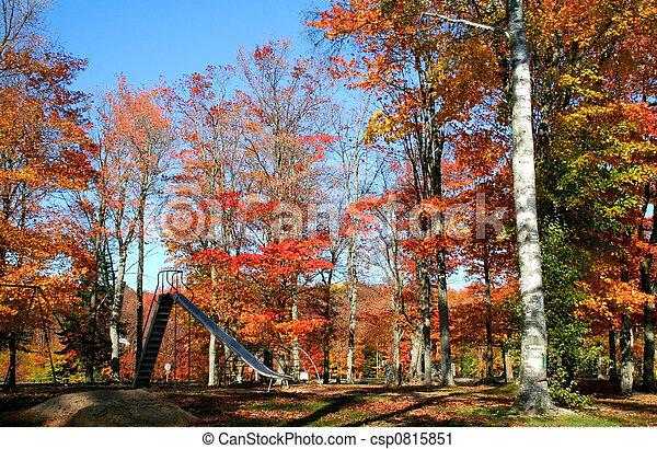 Autumn In A Park - csp0815851