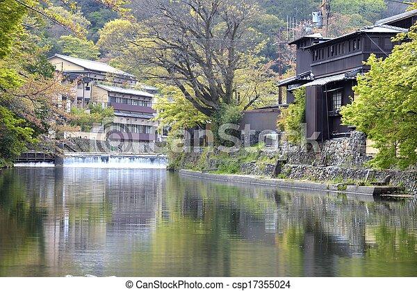Autumn in Arashiyama, Kyoto, Japan - csp17355024