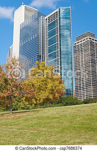 Autumn in Chicago - csp7686374