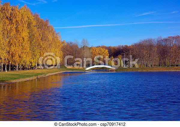 Autumn in City Park - csp70917412