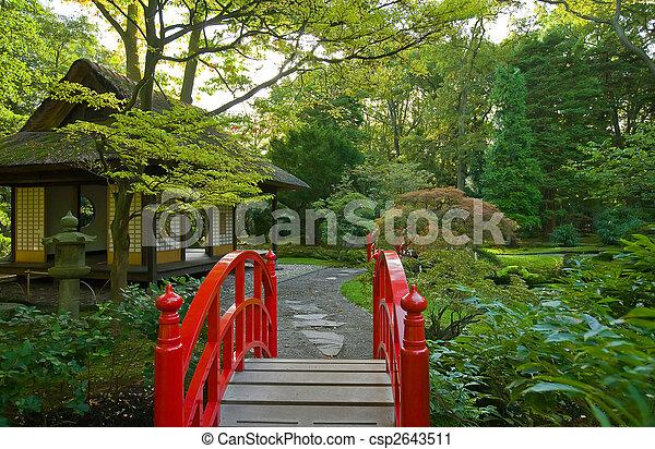 autumn in japanese garden - csp2643511