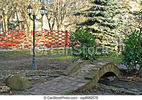 autumn in park - csp9082576