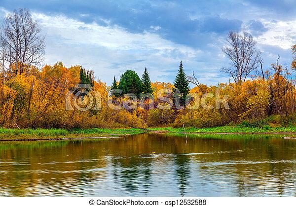 Autumn in Siberia - csp12532588
