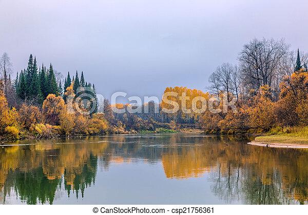 Autumn in Siberia - csp21756361