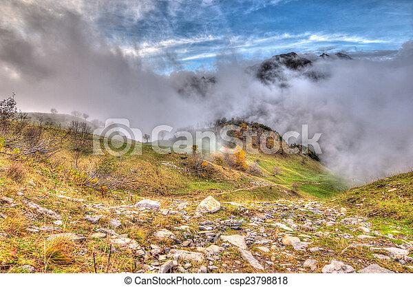autumn in the mountain - csp23798818