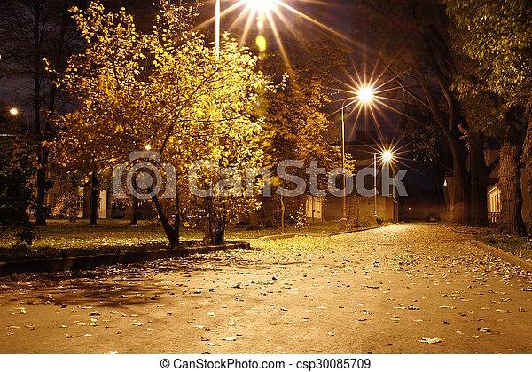 Autumn in the Park - csp30085709