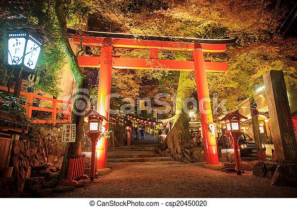 Autumn Japanese garden with maple - csp20450020
