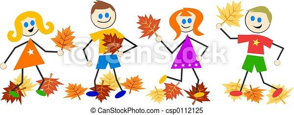 autumn kids - csp0112125