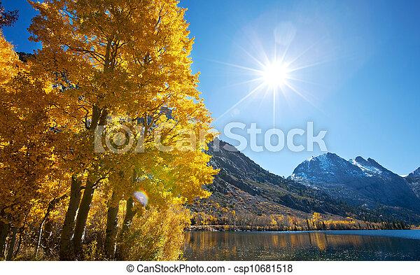 Autumn lake - csp10681518