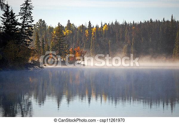 Autumn lake - csp11261970
