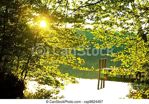 Autumn lake - csp9824497