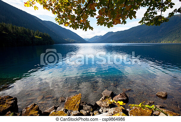 Autumn lake - csp9864986