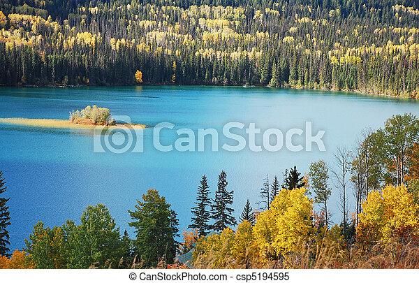Autumn lake - csp5194595