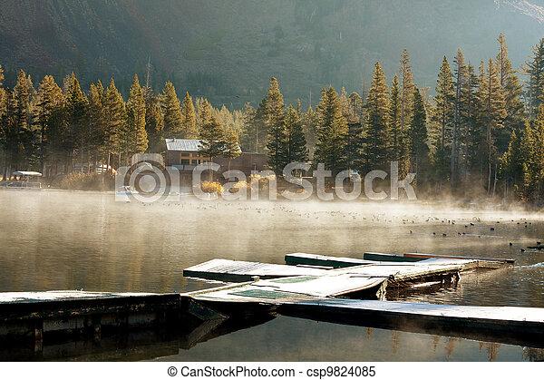 Autumn lake - csp9824085