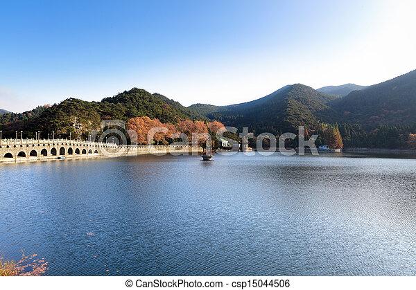 autumn lake - csp15044506