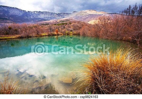 Autumn lake - csp9824163