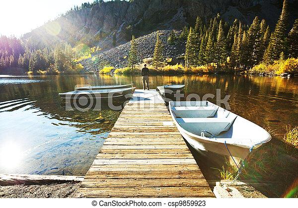 Autumn lake - csp9859923