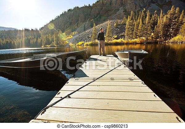 Autumn lake - csp9860213
