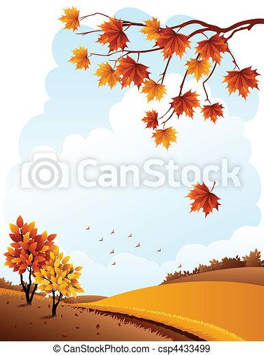 Autumn landscape - csp4433499