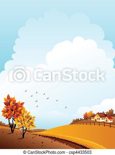 Autumn landscape - csp4433503