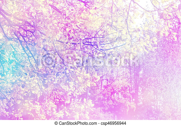 autumn landscape with bright colorful foliage. Indian summer. - csp46956944