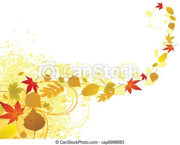 Autumn leaf background - csp6998883