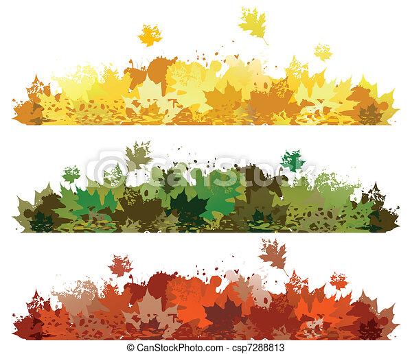 Autumn leaf design - csp7288813