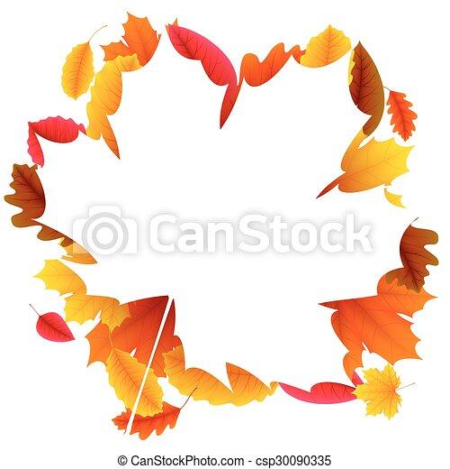 Autumn Leaf Frame - csp30090335